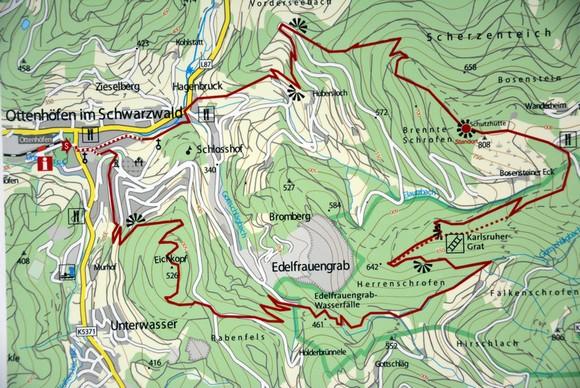 Klettersteig Map : Klettersteig wandern in baden württemberg