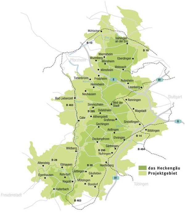 Heckengäu-Karte